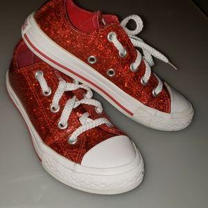 Glitter red converse